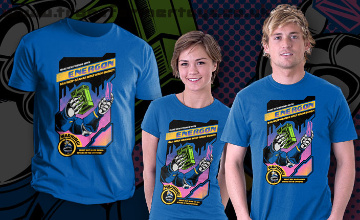 Transformers the movie inspired teefury t shirt www the t shirt which can be seen below and has 15 hours to go features a design by pinteezy and features the universal greeting a sharkticon and energon m4hsunfo